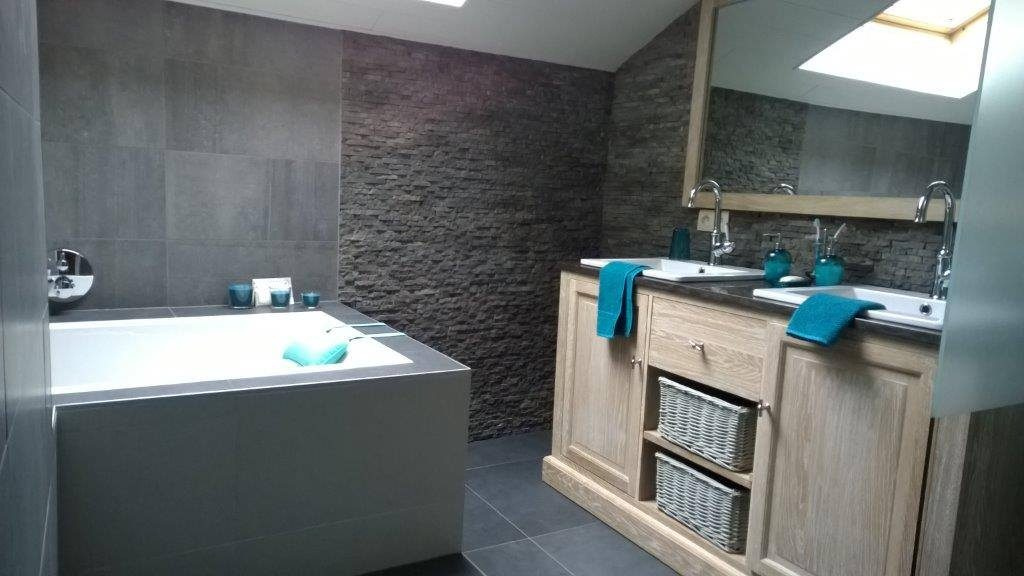 Badkamer Met Steenstrips : Stone panels steenstrips bakker tegels & badkamers