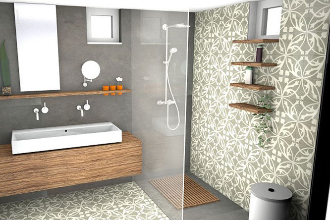 Gele Vloertegels Badkamer : Portugese tegels bakker tegels badkamers