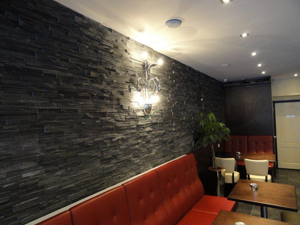 Stone panels steenstrips bakker tegels badkamers for Steenstrips woonkamer