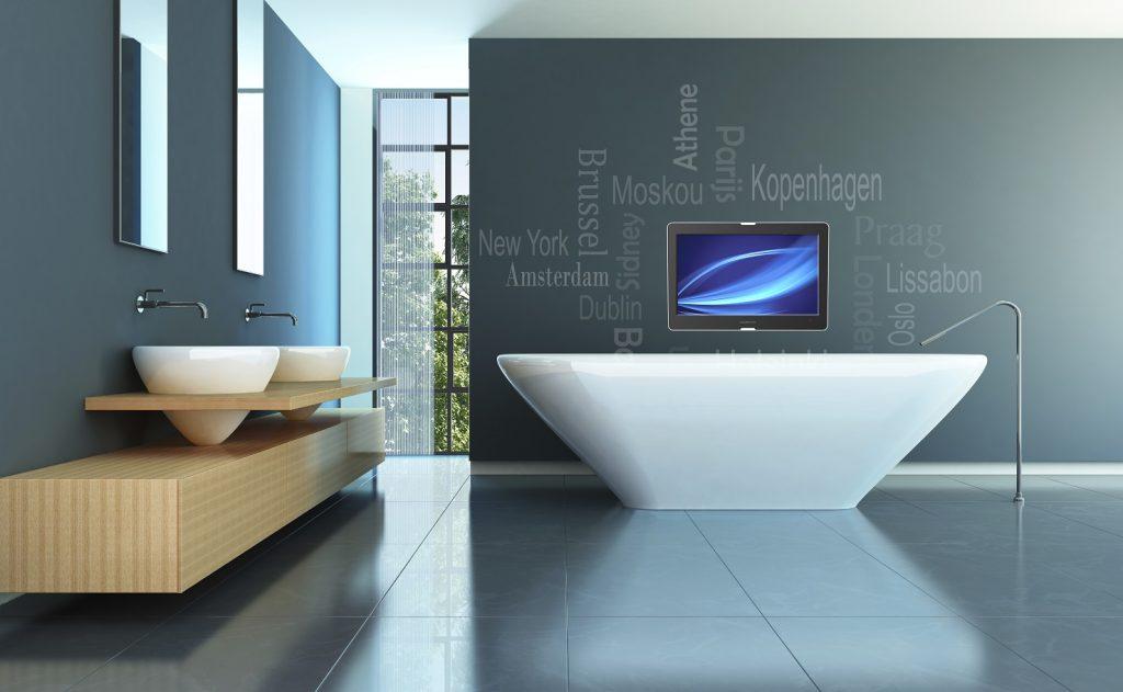 Badkamer inspiratie bakker tegels badkamers for Tv voor in badkamer