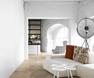 woonkamervloer grote tegels