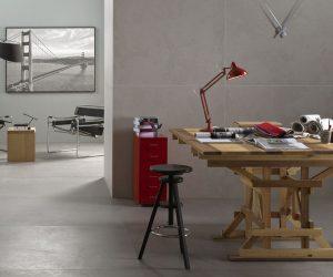 Grote tegels in werkkamer