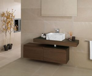 Matte tegels in badkamer