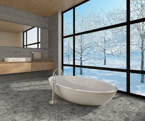 Badkamervloer tegeltjes