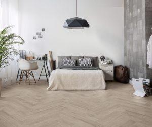 Slaapkamer met keramisch parket
