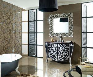 Glanzende badkamervloer