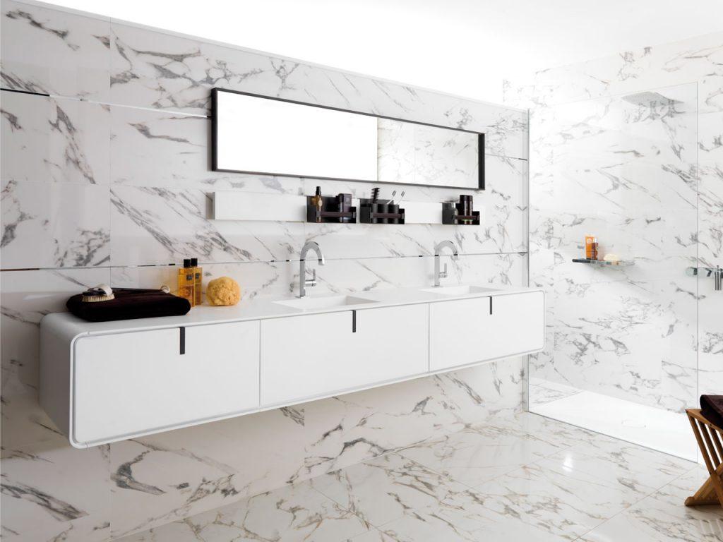 Tegel inspiratie bakker tegels badkamers - Badkamer muur tegels porcelanosa ...