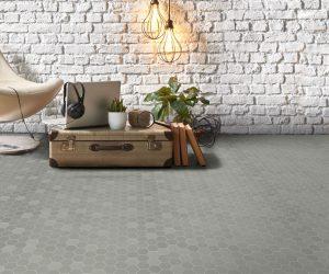 Mozaiektegels in vloer