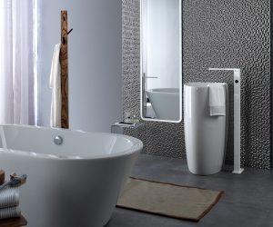 Mozaïek tegeltjes in badkamer