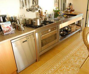 Warme keukenvloer